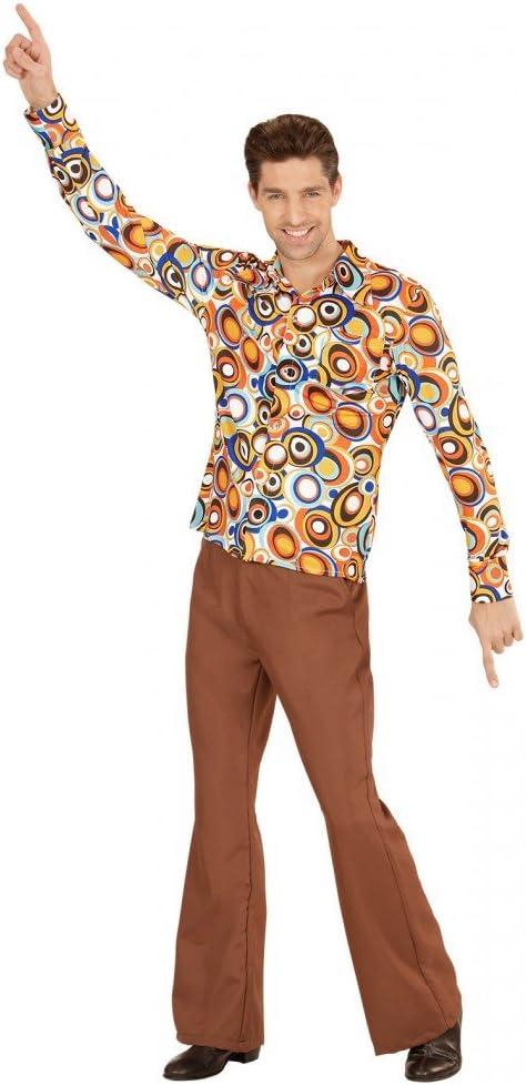Camicia retr/ò anni 70 con e senza motivo da discoteca per uomo