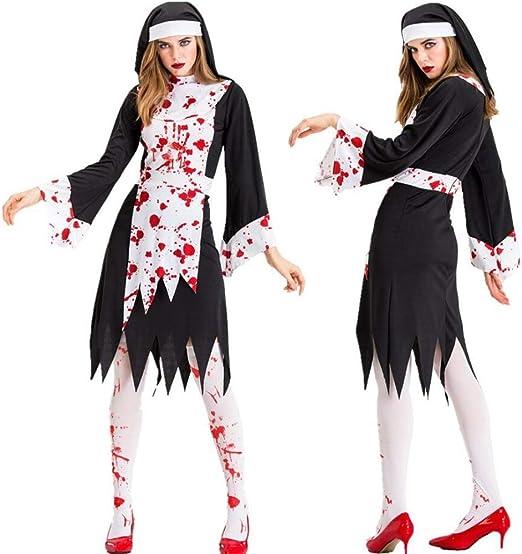 WSJKL Disfraz de Halloween Terror Vampiro Sangriento Disfraz de ...