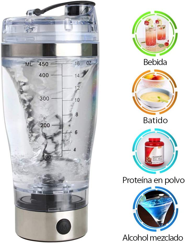 New_Soul Shaker Electric Shaker Botella de Proteína 450ML ...