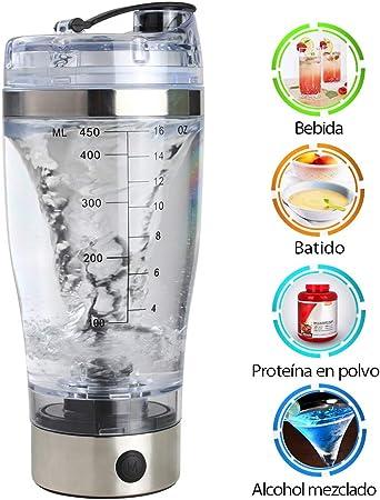New_Soul Shaker Electric Shaker Botella de Proteína 450ML ...