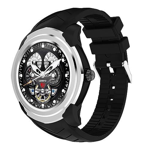lemfo - Smartwatch de frecuencia cardíaca del podómetro GPS/GSM de ...