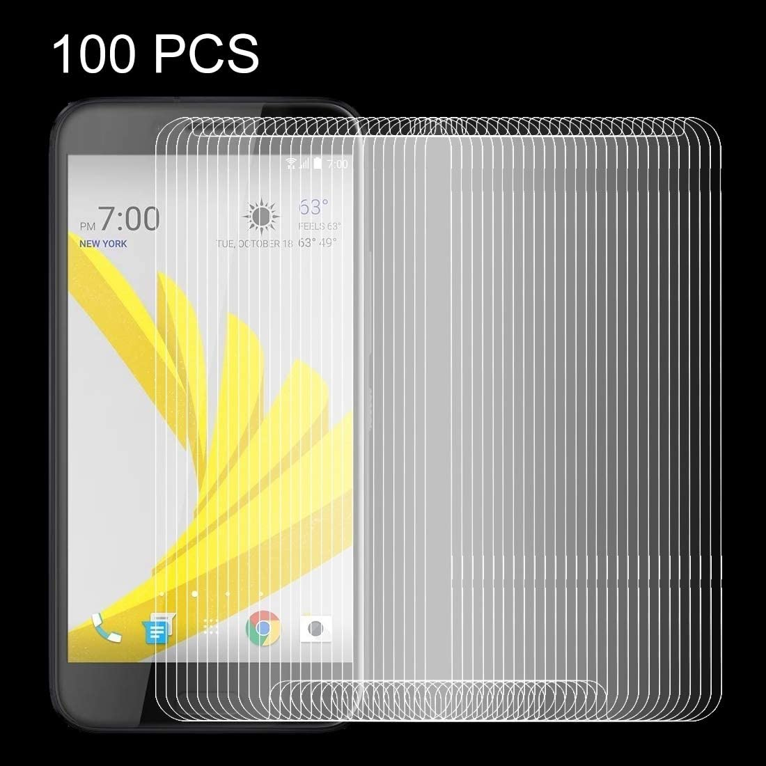 JIANGNIUS Screen Protectors 100 PCS for HTC Bolt 0.26mm 9H Surface Hardness Explosion-Proof Non-Full Screen Tempered Glass Screen Film