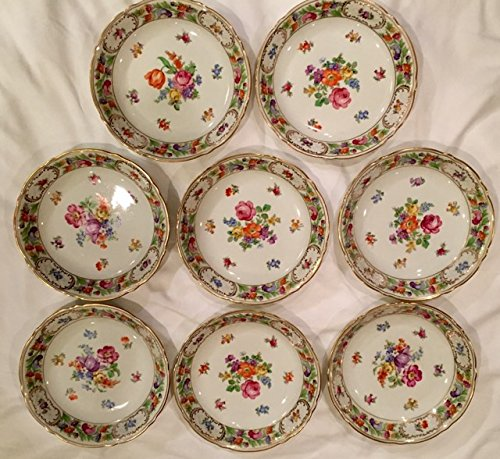 Set of Eight Bavaria Schumann Dresden Flowers 8