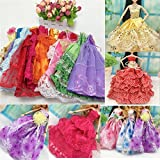 iDream Handmade Party/Wedding Gown/Dress for Dolls (5 Pieces)