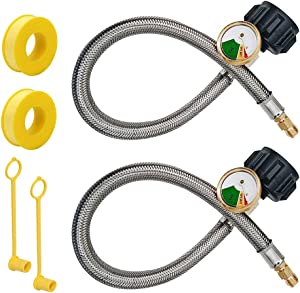 "Cabina home RV 18"" Pigtail Propane Gas Hose Tank Connector Trailer"
