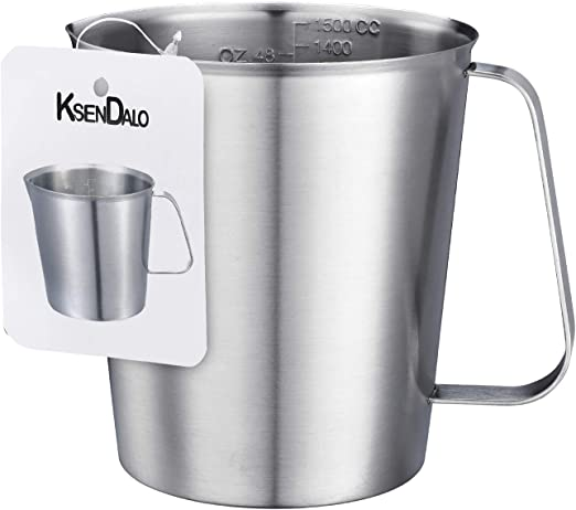 0.5-2L Stainless Steel Measuring Cup Large Capacity Jug For Kitchen Baking Tea
