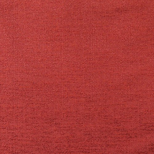 C132 Spice Red Textured Solid Colored Jacquard Linen Look Upholstery And Window Treatment Fabric By The Yard by Discounted Designer Fabrics