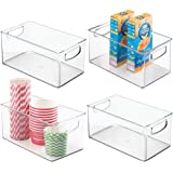 mDesign Plastic Kitchen Pantry Cabinet, Refrigerator or Freezer Food Storage Bins with Handles - Organizer for Fruit…