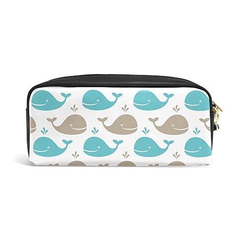 Amazon.com: bluekeystudio Cute Whale Patrón Estuche Estuche ...