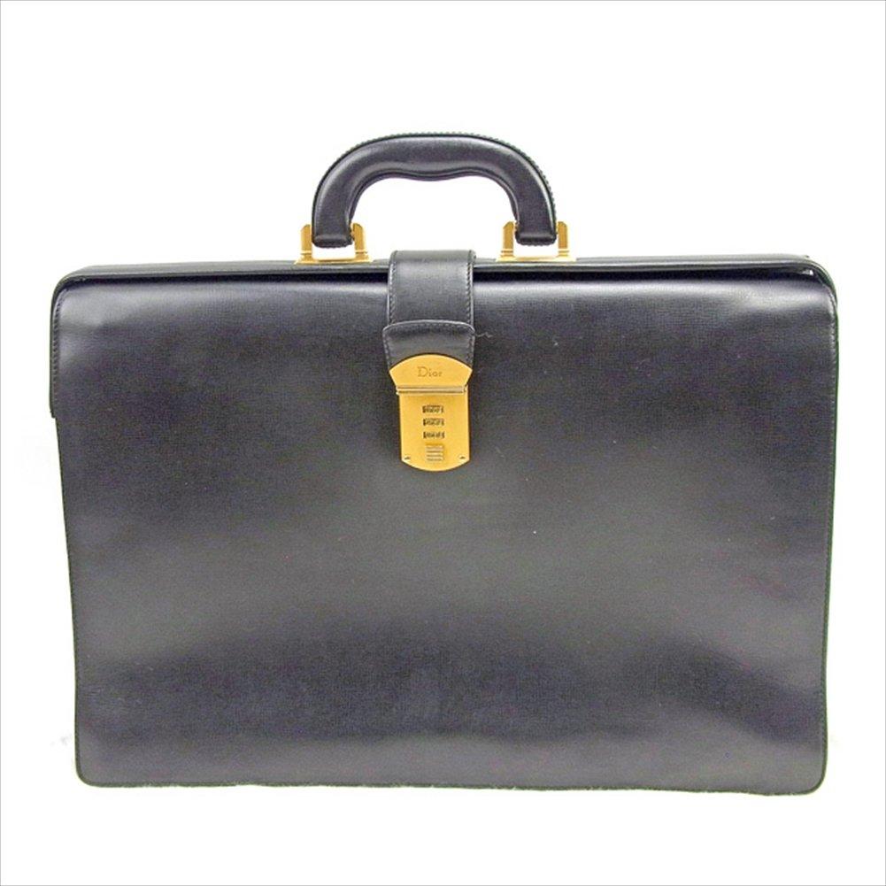 (ディオール) Christian Dior ビジネスバッグ ブリーフケース ブラック ヴィンテージ ダイヤルロック レディース メンズ 可 中古 T935   B0772PXMRY
