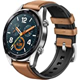 Huawei Watch GT (FTN-B19) Smart Watch with Built-in GPS, GLONASS, Galileo (International Version) (Saddle Brown)