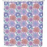 Uneekee Flower Mandala Dream Shower Curtain: Large Waterproof Luxurious Bathroom Design Woven Fabric