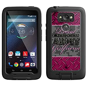 Skin Decal for LifeProof Motorola Droid Turbo Case - Proud Army Girlfriend Grey and Pink