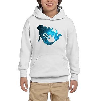 Star Mermaid Boys Pullover Hoodie Casual Pocket Sweater