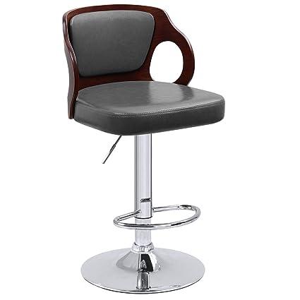 Tremendous Amazon Com Homall Bar Stools Walnut Bentwood Adjustable Creativecarmelina Interior Chair Design Creativecarmelinacom