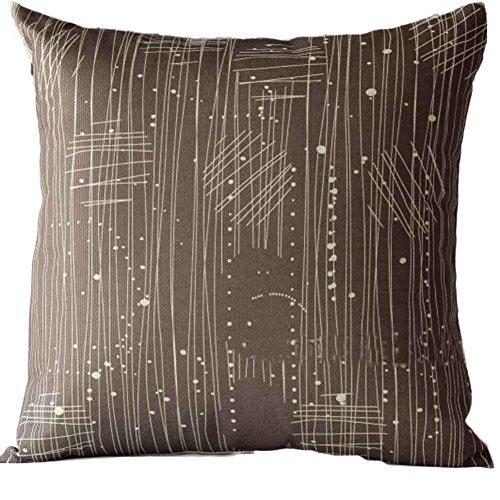 KMG Throw Pillow Cover, Kimloog Sofa Bed Car Decoration Festival Pillowcase Chevron STEM Panels Geometric Line Cushion Cover (B)