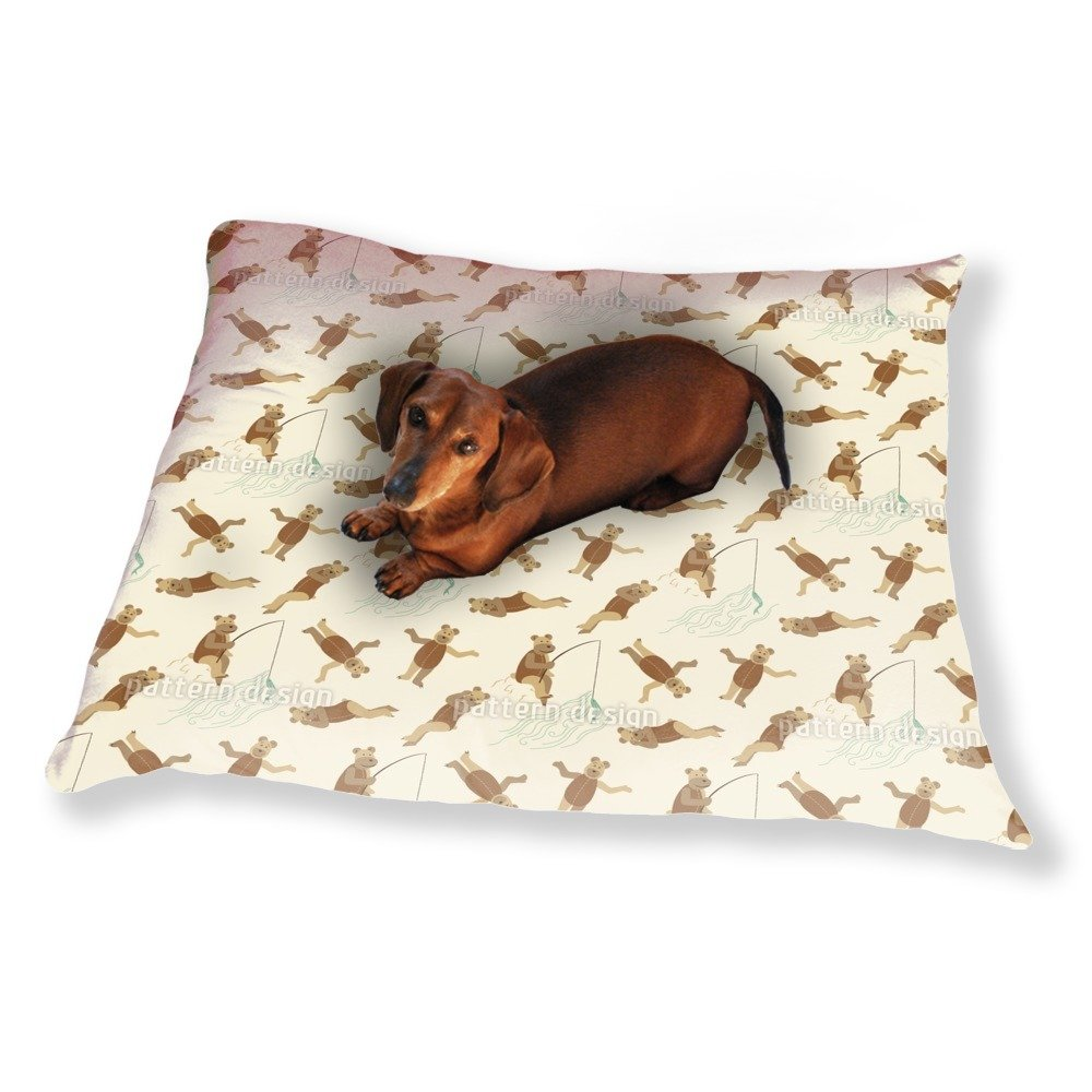 Bears on the Beach Dog Pillow Luxury Dog / Cat Pet Bed