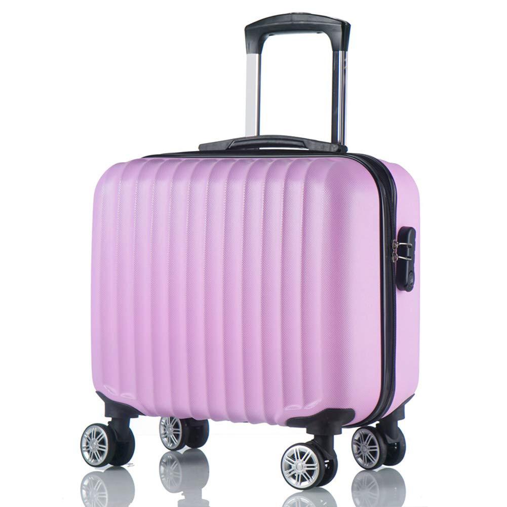 ABSハードシェルキャビン手荷物スーツケース、4つの車輪付き、TSA認定の3桁の組み合わせロック、トロリーケース、ラップトップコンパートメント付き。  Pink B07L922CMK