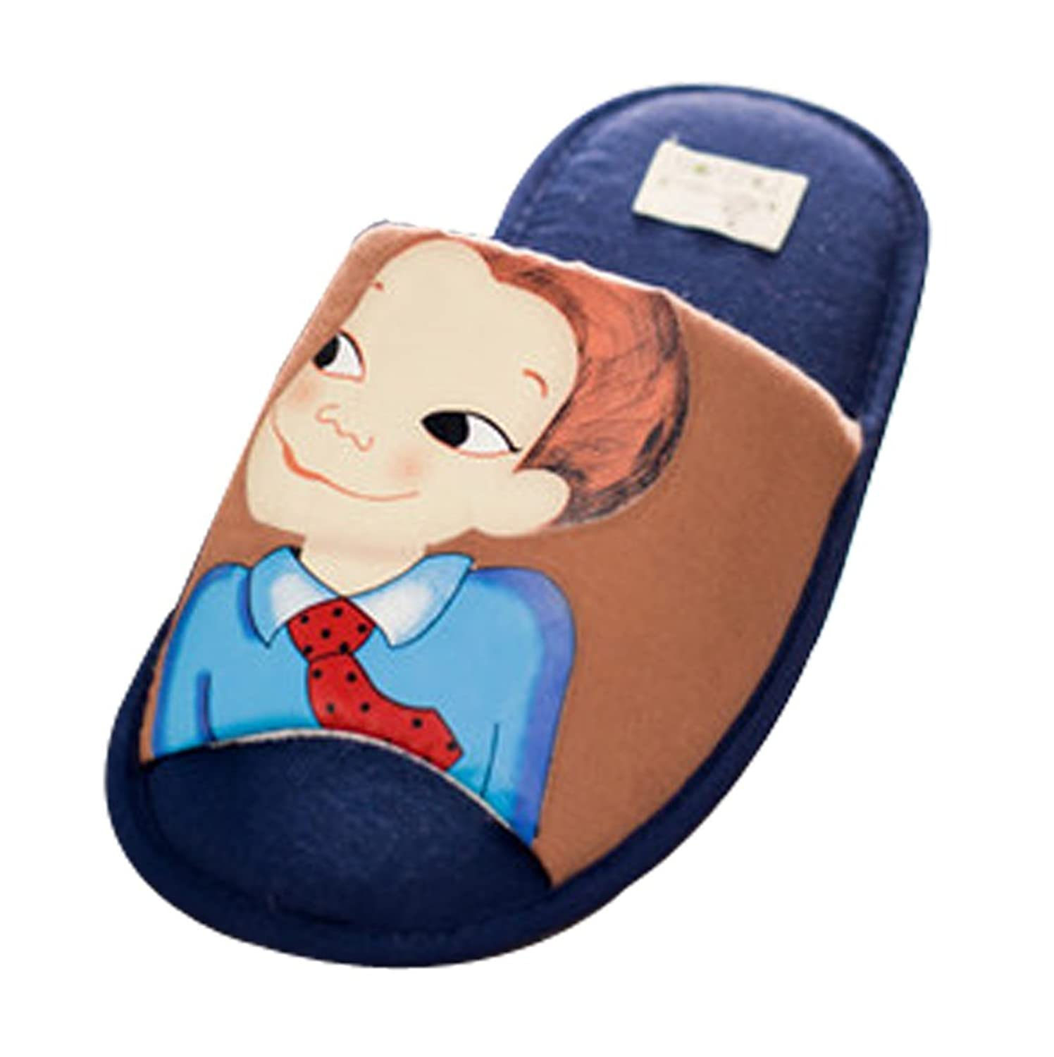 Cattior Mens Cartoon Comfy House Slippers Open Toe Slippers