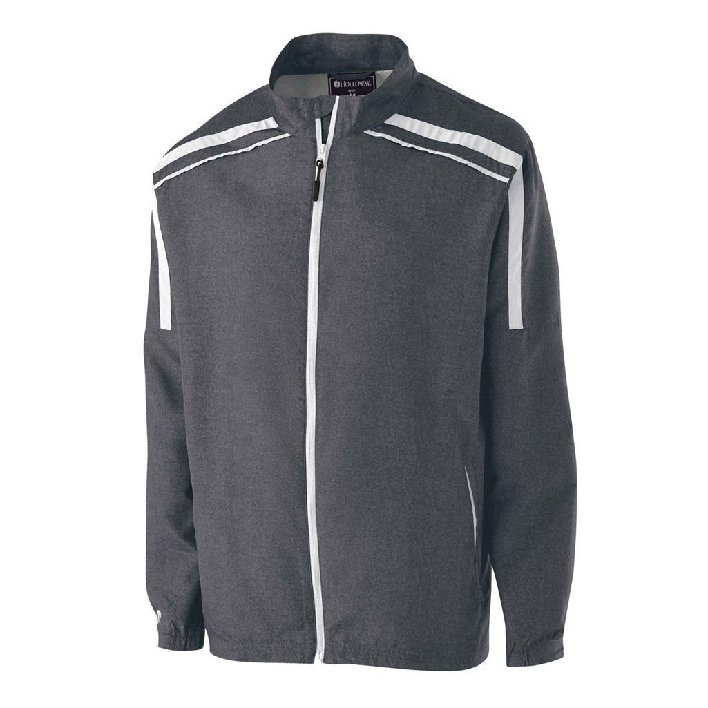 Holloway Raider Youth Lightweight Jacket (Small, Carbon Print/White) by Holloway