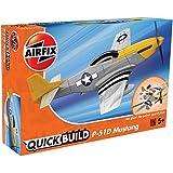 Airfix Quickbuild P-51D Mustang Airplane Brick Building Plastic Model Kit J6016