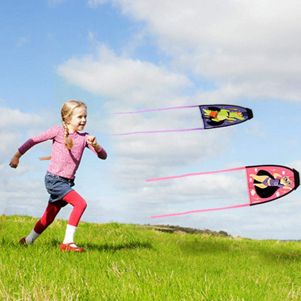 Blue Easy Flying Mini Kites for Boys and Girls Cartoon Funny Catapult Kite for Beach Park and Outdoor Fun and Games Kite Toy for Kids