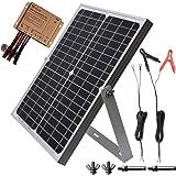 TP-solar 20W 12V Solar Panel kit Battery Charger Maintainer + 10A Waterproof Solar Charge Controller + Adjustable Mount Tilt