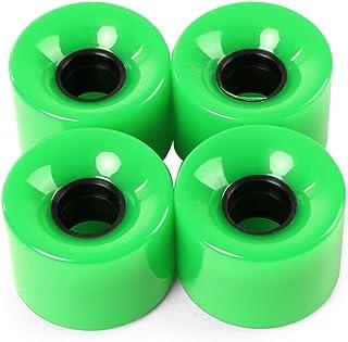 zhang-hongjun,4pcs 60 Roues de Planche à roulettes Couleur Solide de 45 mm de Couleur pour la Plupart des Planches à roulettes(Color:Vert)
