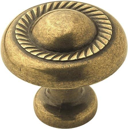 Antique Brass Amerock Allison Mushroom Knob Finish