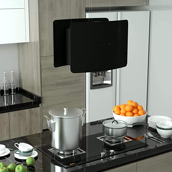 Festnight Campana Extractora Colgante Táctil LCD Campana Extractora Decorativa Vidrio Templado 55 x 37 x (62-137) cm: Amazon.es: Hogar