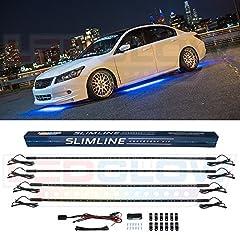 4pc Blue Slimline LED