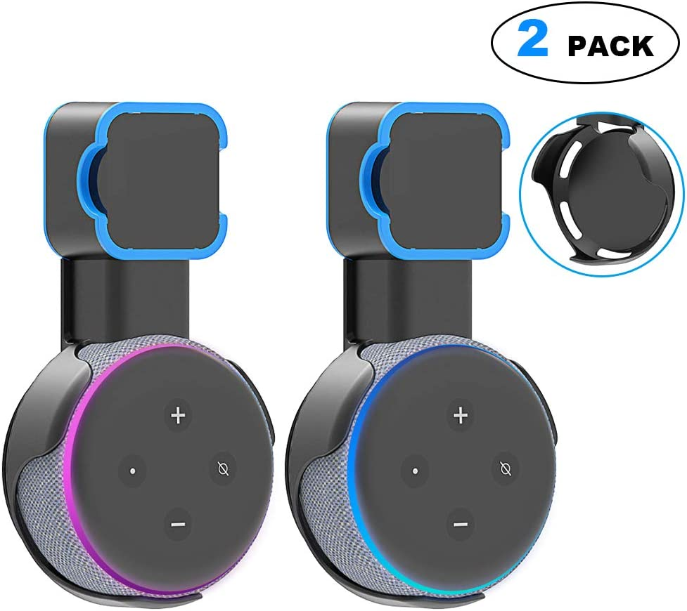 Wall Mount Stand for Echo Dot 3rd Gen Wall Mount Holder Echo Dot Accessory with Cable Management for Kitchen Bathroom Bedroom 2 Packs