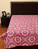 Rajrang Exclusive Cross Kantha Pink Purple Ac Quilt