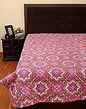 Rajrang Exclusive Cross Kantha Pink Purple Ac Quilt