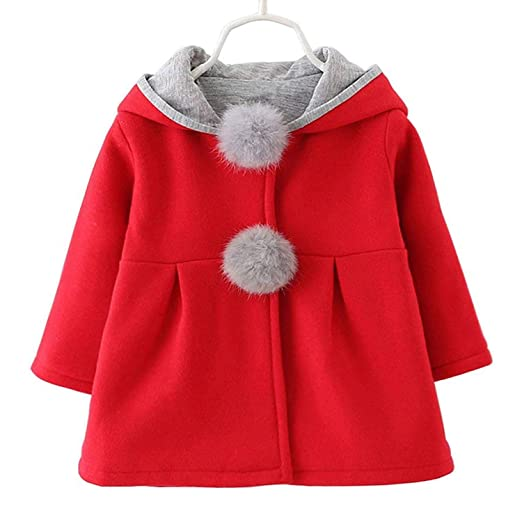 b7bbd1944 Waprincess 2017 Baby Girls Toddler Kids Winter Big Ears Hoodie Jackets  Outerwear Coats