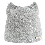 iLXHD Women Autumn Winter Beanie Hat Caps Warm Cat Ear Earmuffs Novelty Hat