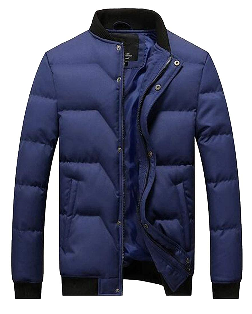 ARTFFEL Mens Slim Winter Stand Collar Warm Down Quilted Jacket Parka Coat Outerwear