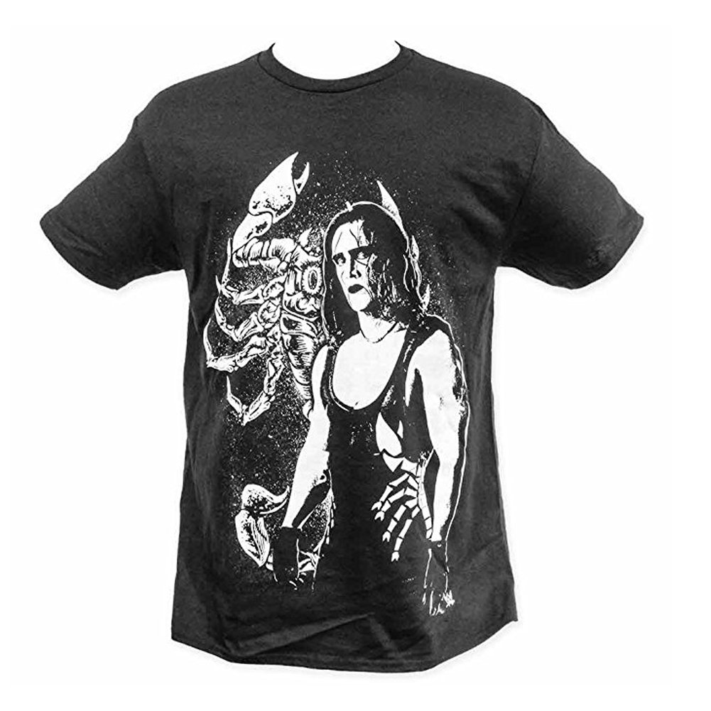 WWE Sting Full Body Shot Retro Adult T-Shirt (XX-Large, Black)
