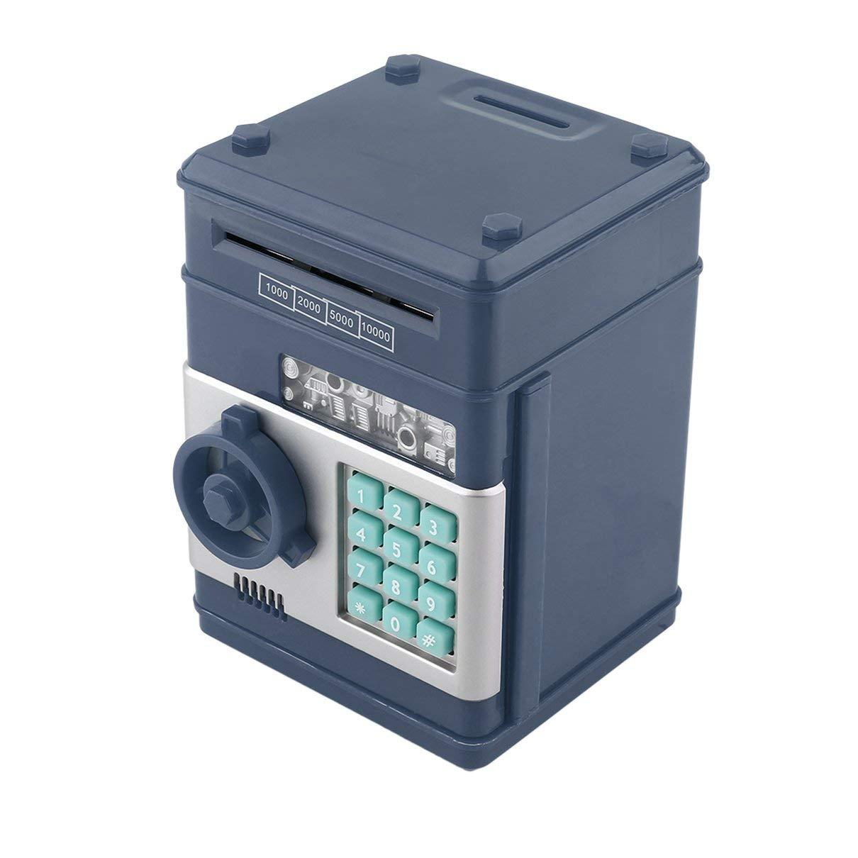 Togames 7Colors Kids Electronic Money Safe Box Salvadanaio Bancomat Bancomat per Monete e Banconote Codice Caso Chiave Sistema Cassa Risparmio Rosa