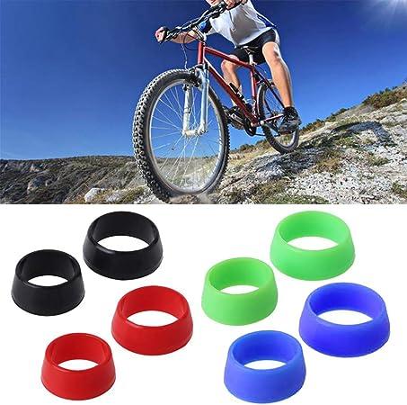 Faderr 1 par de Fundas para sill/ín de Bicicleta Azul para sill/ín de Bicicleta de monta/ña Small a Prueba de Polvo de Silicona Suave y Resistente al Agua