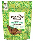 Full Moon Artisanal All Natural Human Grade Jerky Dog Treats, Rosemary Apple Chicken, 12 Ounce