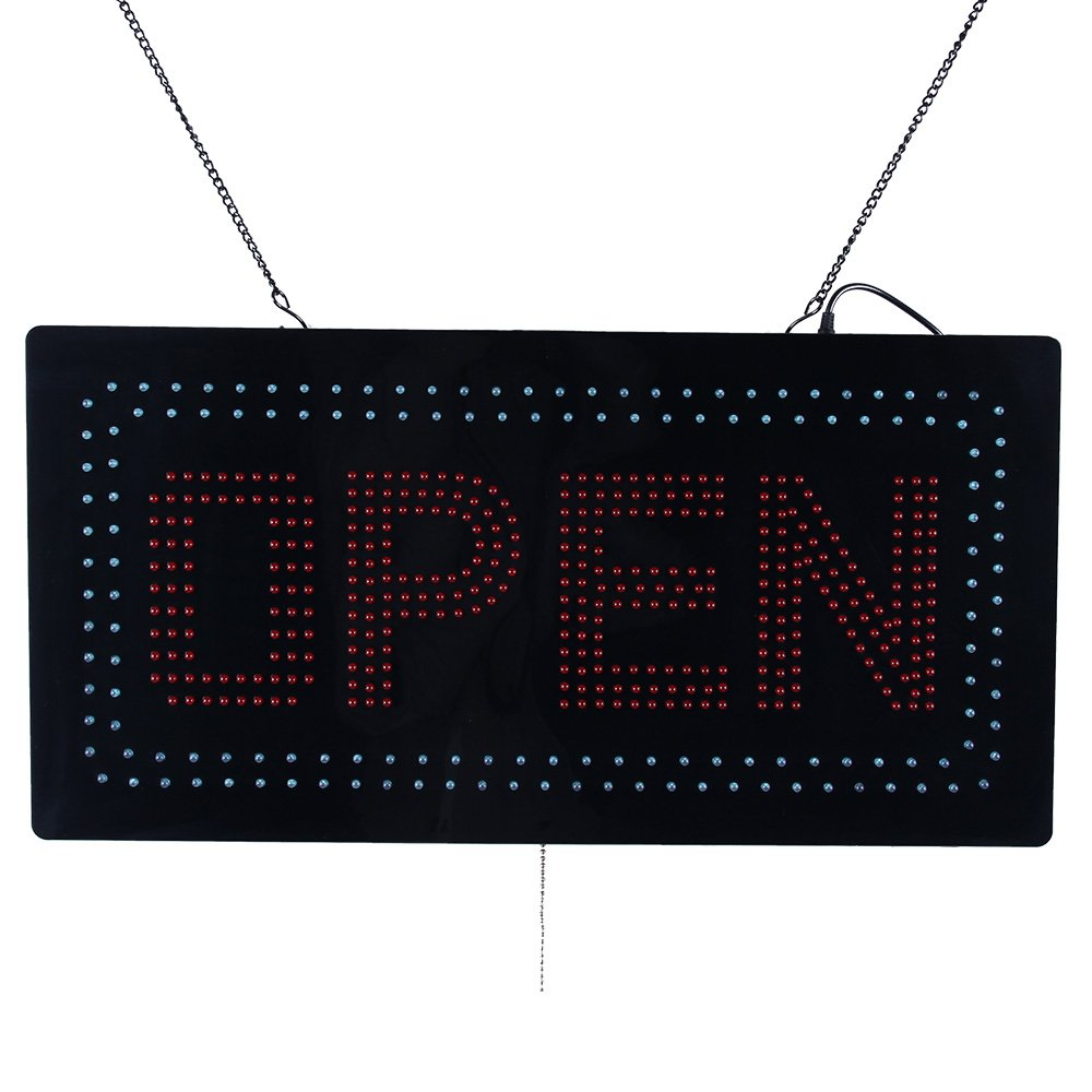 LED Open Light Sign Super Bright Electric Advertising Display Board for Message Business Shop Store Window Bedroom Barber Shop Beauty Hair Salon Nails Spa Massage 24 x 12 inches by HIDLY (Image #2)