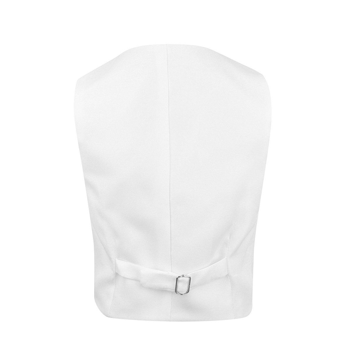 dPois Kids Boys Wedding Formal Waistcoat Gentleman Suits Floral Pattern Vest