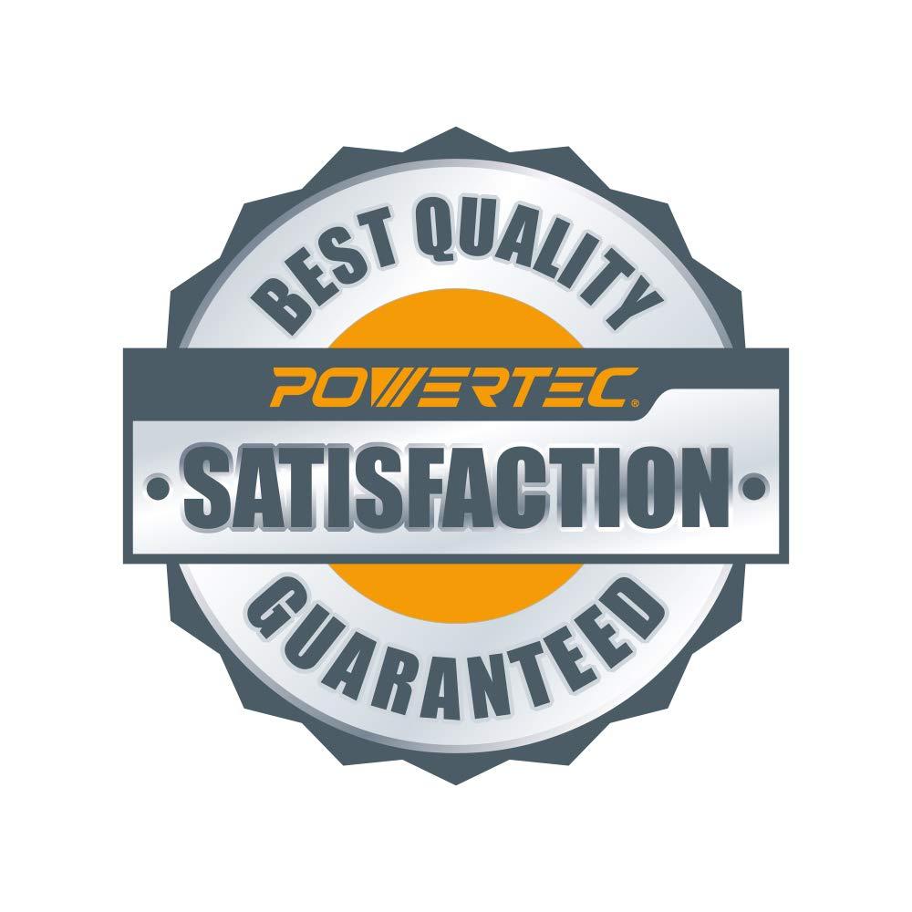 POWERTEC 45201XG-100 6'' A/O Hook & Loop 6 Hole Sanding Disc, Assortment Grits 80, 100, 120, 150, 220, Gold, 100 Pack