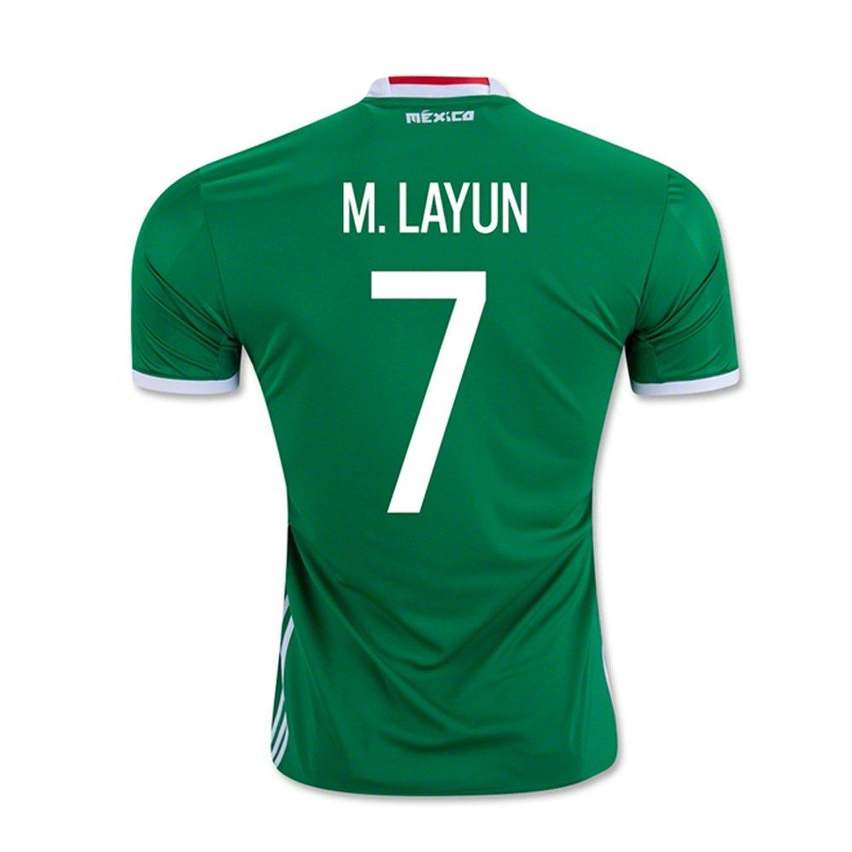 adidas M. Layun #7 Mexico Home Jersey Copa America Centenario 2016 - YOUTH/サッカーユニフォーム メキシコ ホーム用 ジュニア向け (Y-Small) B01ETZNJ40