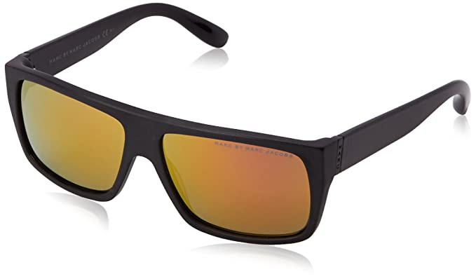 5059ce3fe06b MARC BY MARC JACOBS MMJ 096 N S Sunglasses 0T7O Matte Black 57-14-140  Marc  by Marc Jacobs  Amazon.co.uk  Clothing