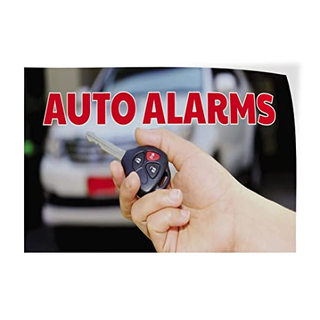 Amazon.com : Auto Alarmas #2 Indoor Store Sign Vinyl Decal ...