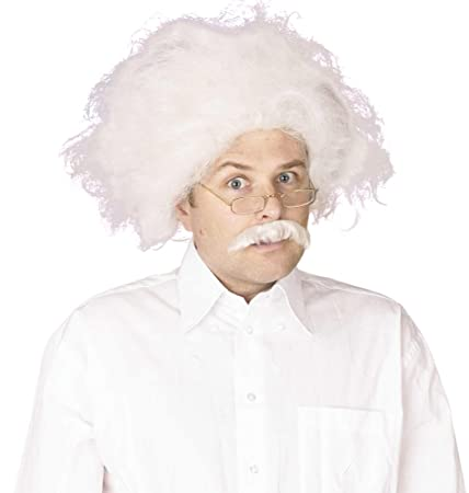 NEW WHITE PROFESSOR EINSTEIN WIG MAD SCIENTIST (peluca): Bristol Novelty: Amazon.es: Juguetes y juegos