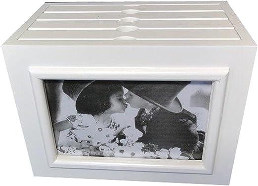 Charming House Design Encantador Diseño de casa Caja de Madera Blanca con Marco de Fotos para álbum de Fotos de Boda 96 Fotos 6 x 4: Amazon.es: Hogar
