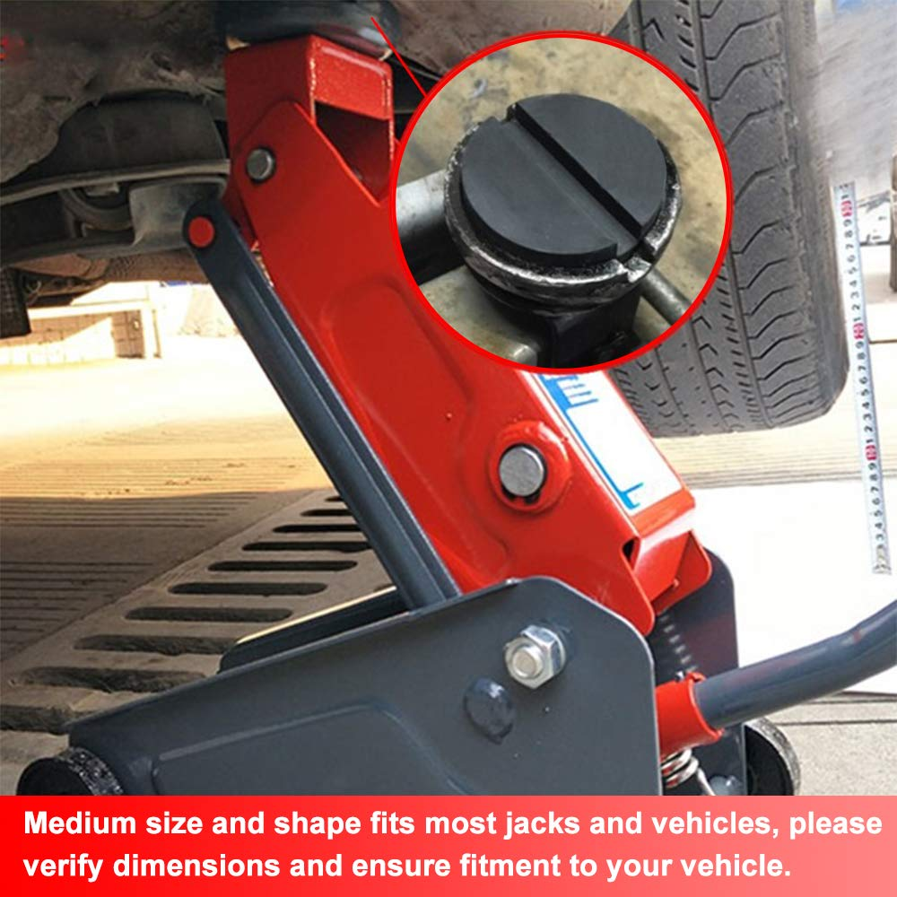 Standard-Size - Universal Frame Rail Protector Slotted Rubber Jack Pads